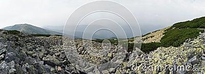 Mountain stony overcast view
