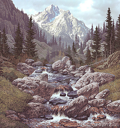 Free Mountain Stream In The Rockies Royalty Free Stock Photo - 530465