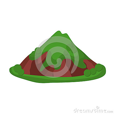 Mountain summer vector illustration Vector Illustration