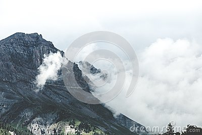 Mountain Summit In Clouds Free Public Domain Cc0 Image