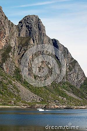 Mountain in Svolvaer, Lofoten, Norway