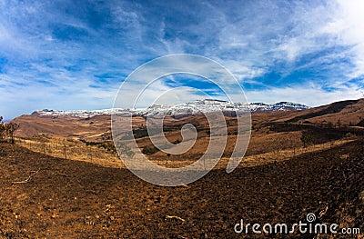 Mountain Terrain Winter Contrasts
