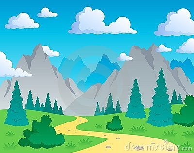 Mountain theme landscape 1