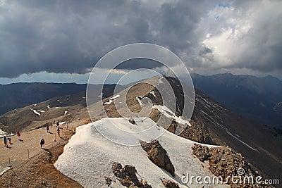 The mountain top Tahtali. Turkey.