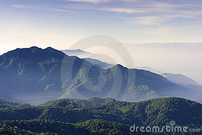 Mountain valley Chiang Mai thailand
