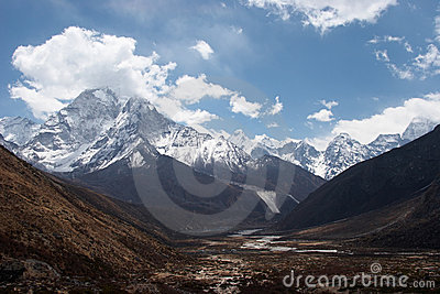 Mountain valley, Everest trail, Nepal