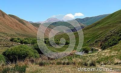 Mountain valley in Kyrgyzstan