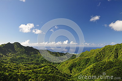 Mountain view of Rarotonga, Cook Islands