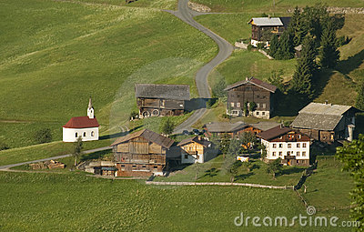 Mountain village in austrian alps