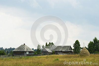Mountain village farmhouses