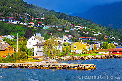 Mountain village in Norway