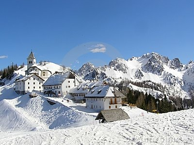 Mountain village panorama