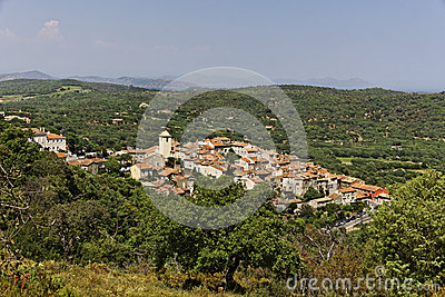 Mountain village of Ramatuelle nearby Saint Tropez, Cote d Azur, Provence, Southern France