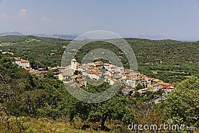 Mountain village of Ramatuelle nearby Saint Tropez, Cote d Azur, Provence, Southern France