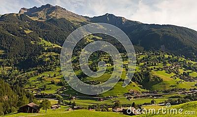 Mountain village, Switzerland