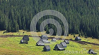 Mountain village in Transylvania,Romania