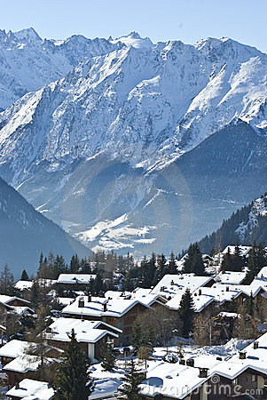 Free Mountain Village Verbier Stock Images - 8369384