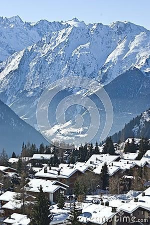 Mountain village verbier