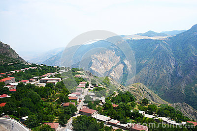 Mountain Village View From Altitude Royalty Free Stock Image - Image: 24685886