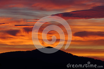 Mountain Volcano Like Sunrise