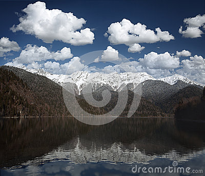 Mountain and water