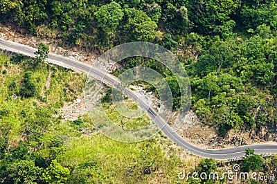 Mountain winding road