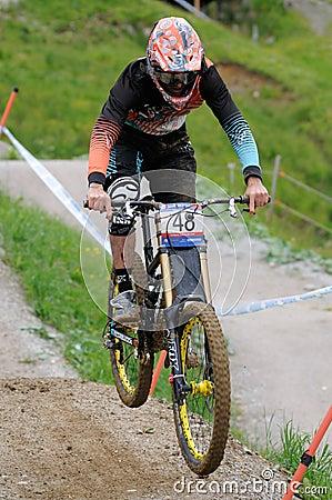 Mountainbike Downhill Editorial Image