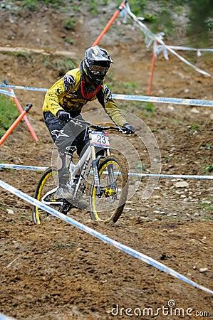 Mountainbike Downhill Editorial Stock Image