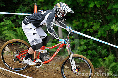 Mountainbike Downhill Editorial Image