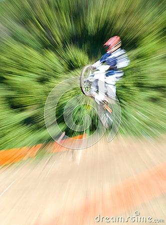 Mountainbiker jumping Editorial Photo