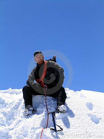 Mountaineer at the summit