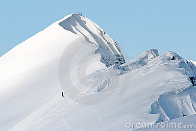Mountaineering in Swiss Alps