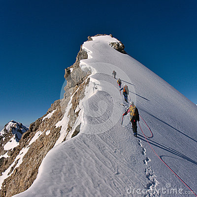 Free Mountaineers On A Range Stock Images - 33559844