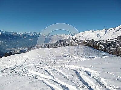 Mountainous Alpine landscape