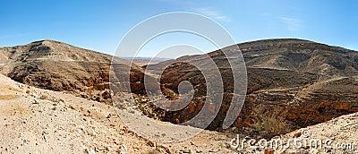 Mountainous desert landscape near the Dead Sea