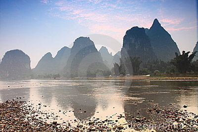 Mountainous Guilin, China