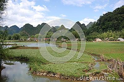 Mountainous landscape of Cao Bang
