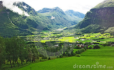 Mountainous landscape of northern Norway