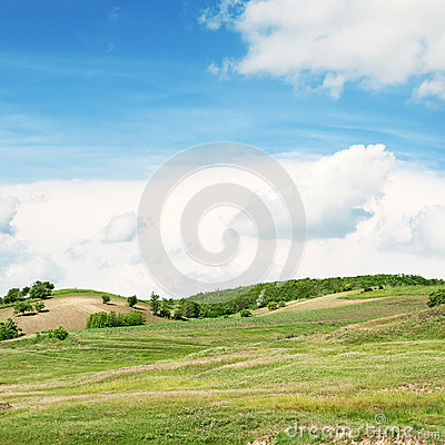 Mountainous terrain and  sky