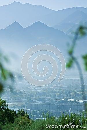 Mountainous Tibetan landscape