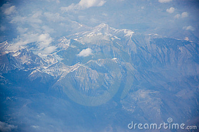 Mountains from airplane