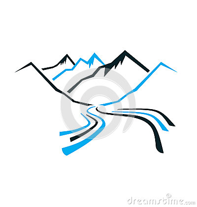 Free Mountains And Valley Logo Stock Image - 31068081