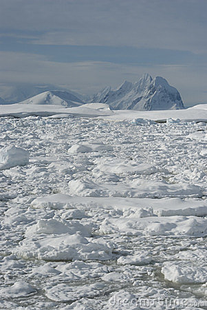 The mountains of the Antarctic.