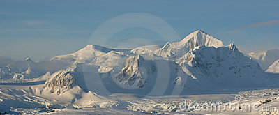 The mountains of the Antarctic winter.