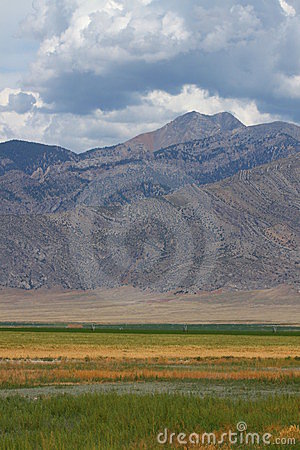 Mountains Beyond Idaho Farmland