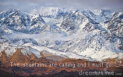 The mountains are calling stock image image of calling for The mountains are calling and i must go metal sign