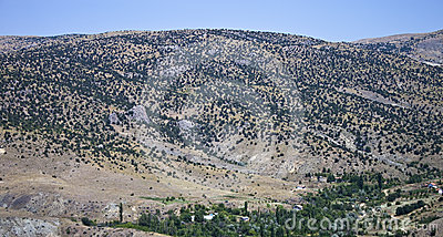 Mountains in central Anatolia