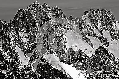 Mountains of Chamonix Aiguille Verte Les Droites