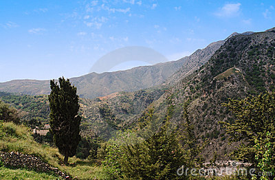 mountains of crete island