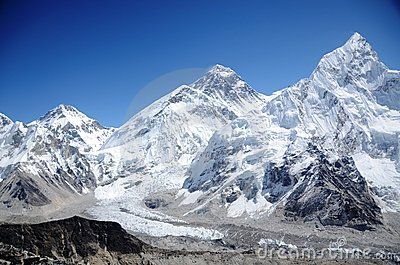 Mountains of Everest, Nuptse and Lhotse